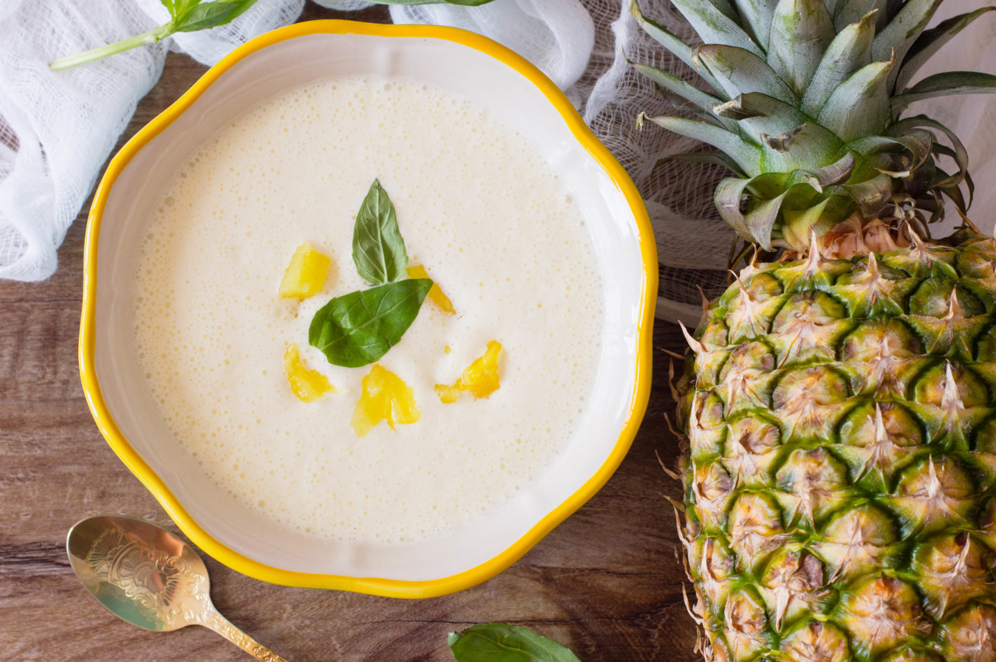 Tangy Pineapple Chilled Soup Recipe Perfect For Summer
