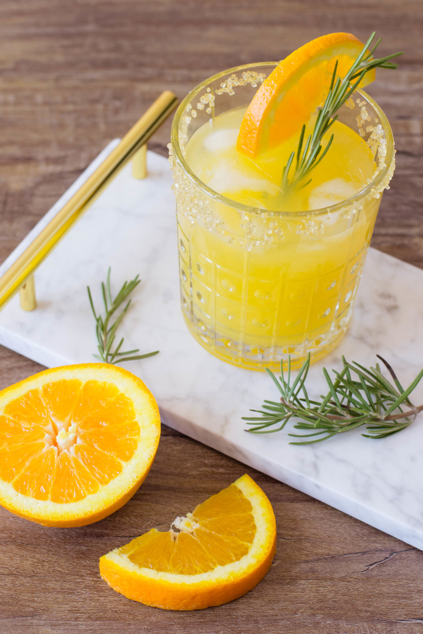 Keto Friendly Orange Mango Sparkling Ice Cocktail