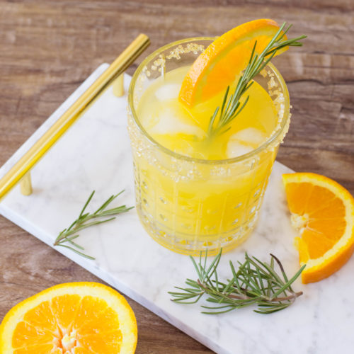 Keto Friendly Orange Mango Sparkling Ice Cocktail