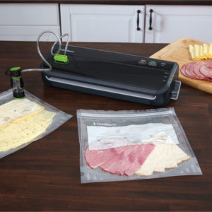 The FoodSaver Vacuum System keep food fresh longer. The system removes air and creates an airtight seal to lock in freshness so your food last longer.
