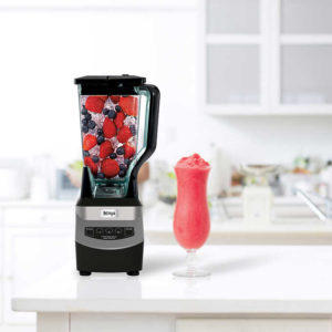 Ninja Professional Countertop Blender with Nutri Cups has 1100 watts of professional performance power with 3 speeds, pulse, and single-serve functions