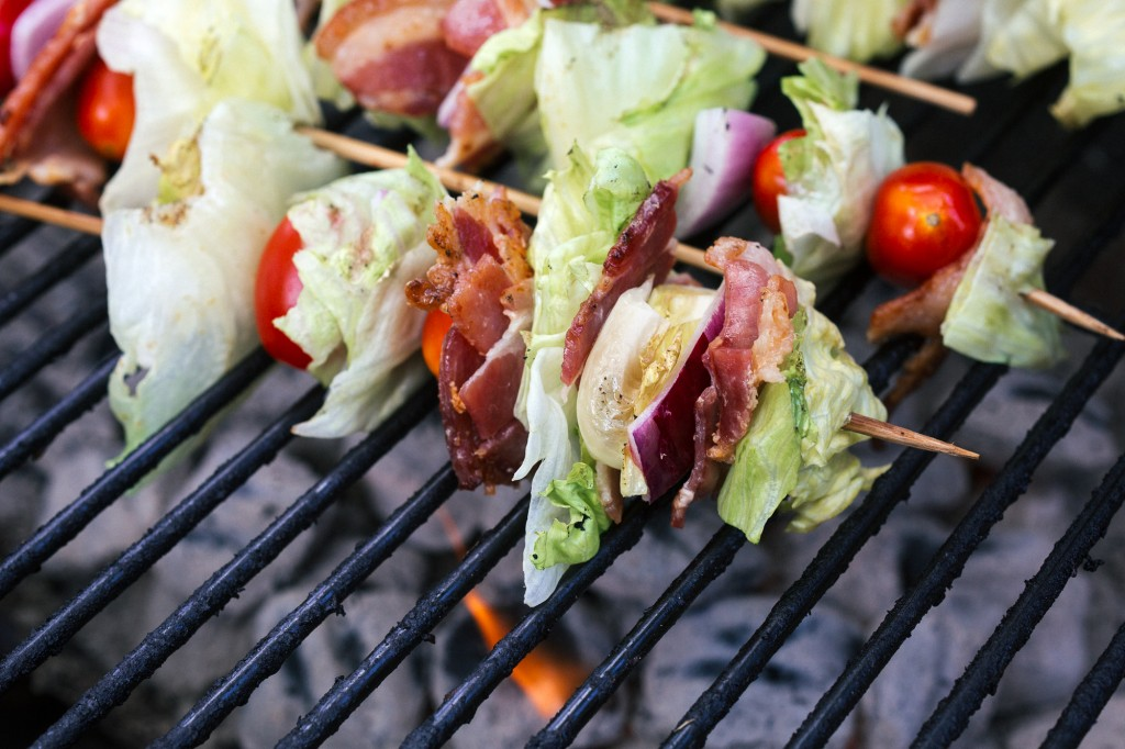 These Grilled Wedge Salad Skewers are so fun to make and very quick and easy. This is about the fastest thing that you can put on the grill and only need to remain on the grill for a couple of minutes.