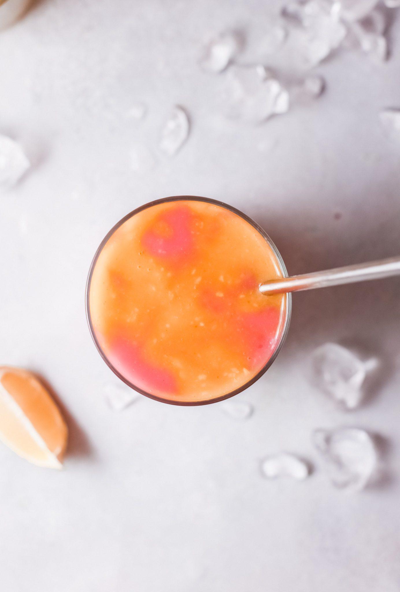 Mango raspberry swirl mango margarita